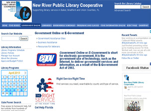 New River Public Library System E-government Page