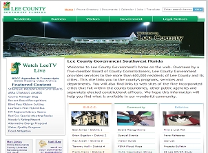 Lee County Government Page