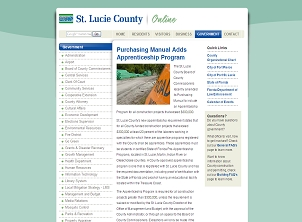 St. Lucie County Government Page
